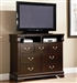 Louis Philippe Media Chest in Rich Cappuccino Finish by Coaster - 203986N