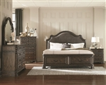 Carlsbad Upholstered Storage Bed 6 Piece Bedroom Set in Vintage Espresso Finish by Coaster - 204040