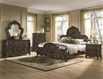 Abigail 6 Piece Bedroom Set in Deep Cherry Finish by Coaster - 204451