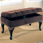 Brown Fabric Storage Bench by Coaster - 300095