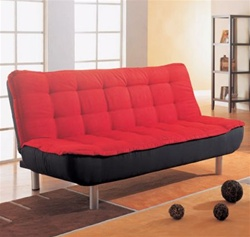 Sofa Bed in Red and Black Cover Combination by Coaster - 300158