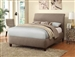 Levine Taupe Fabric Upholstered Bed by Coaster - 300366