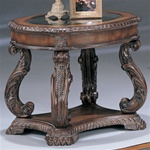 Antique Finish End Table by Coaster - 3891