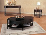 Sleek Design 3 Piece Accent Table Set in Cappuccino Finish by Coaster - 3940S