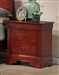 Louis Philippe Nightstand in Cherry Finish by Coaster - 3982N