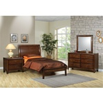 Scottsdale 4 Piece Youth Bedroom Set in Deep Walnut Finish by Coaster - 400281