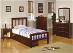 Parker 4 Piece Youth Bedroom Set in Brown Cherry Finish by Coaster - 400290