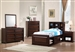 Jerico Captain's Bed 4 Piece Youth Bedroom Set in Maple Oak Finish by Coaster - 400511