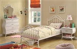 Bella 4 Piece Youth Bedroom Set in White Finish by Coaster - 400521