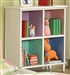 Multicolor Bookcase in White Finish by Coaster - 400577