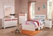 Madeline 4 Piece Youth Bedroom Set in White Finish by Coaster - 400611