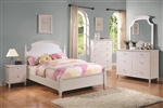 Bethany 4 Piece Youth Bedroom Set in White Finish by Coaster - 400681