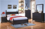 Zachary 4 Piece Youth Bedroom Set in Deep Navy Finish by Coaster - 400691