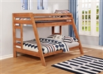 Wrangle Hill Twin Over Full Bunk Bed in Amber Wash Finish by Coaster - 460093