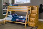 Twin/Full Bunk Bed with Stairway Chest in Amber Wash Finish by Coaster - 460098