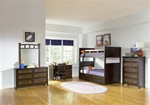 Jasper Twin/Twin Bunk Bed Bedroom Collection in Rich Cappuccino Finish by Coaster - 460136S