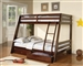 Twin/Full Bunk Bed in Cappuccino Finish by Coaster - 460228