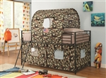 Camouflage Tent Loft Bed by Coaster - 460331
