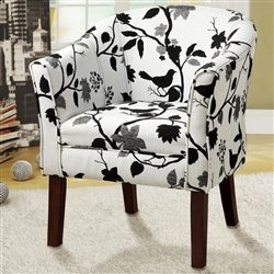 Accent Chair in Bird and Leaves Pattern Fabric by Coaster - 460406