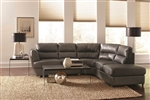 Chaisson Grey Leather Sectional by Coaster - 500036