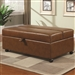 Caramel Vinyl Ottoman with Sleeper by Coaster - 500874