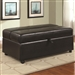 Black Vinyl Ottoman with Sleeper by Coaster - 500875