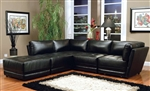 Kayson BUILD YOUR OWN Sectional Black Leather by Coaster - 500891-M