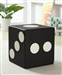 Dice Ottoman Black Vinyl in by Coaster - 500916