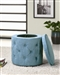 Blue Round Storage Ottoman by Coaster - 500927