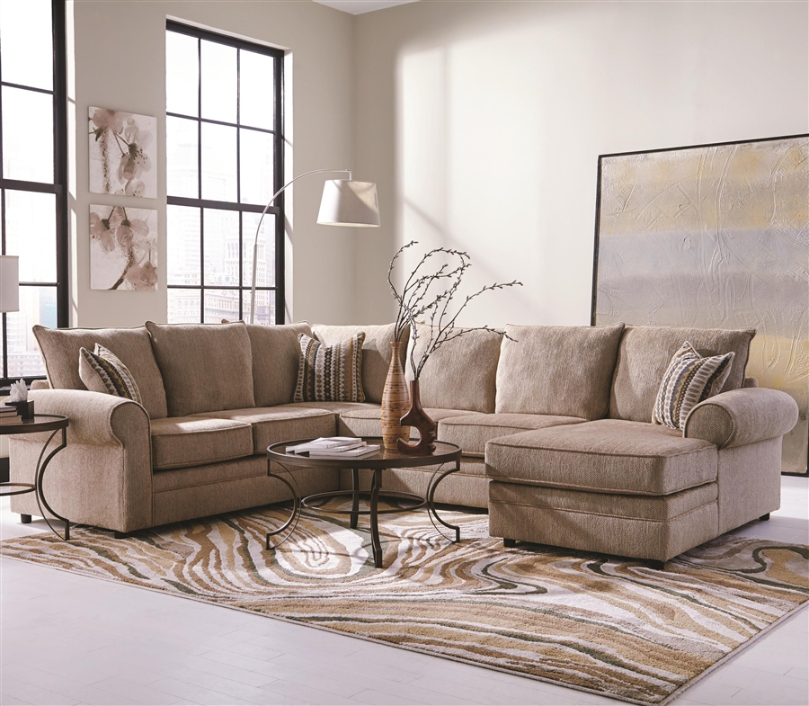 Westwood 4 Piece Chenille Sectional By Coaster 501001