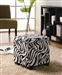 White Zebra Storage Ottoman by Coaster - 501087