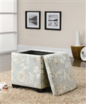 Floral Pattern Storage Ottoman by Coaster - 501088