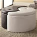 Ying-Yang Black & White Storage Ottoman by Coaster - 501104