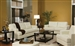Samuel 2 Piece 100% Cream Leather Living Room Set by Coaster - 501691SL