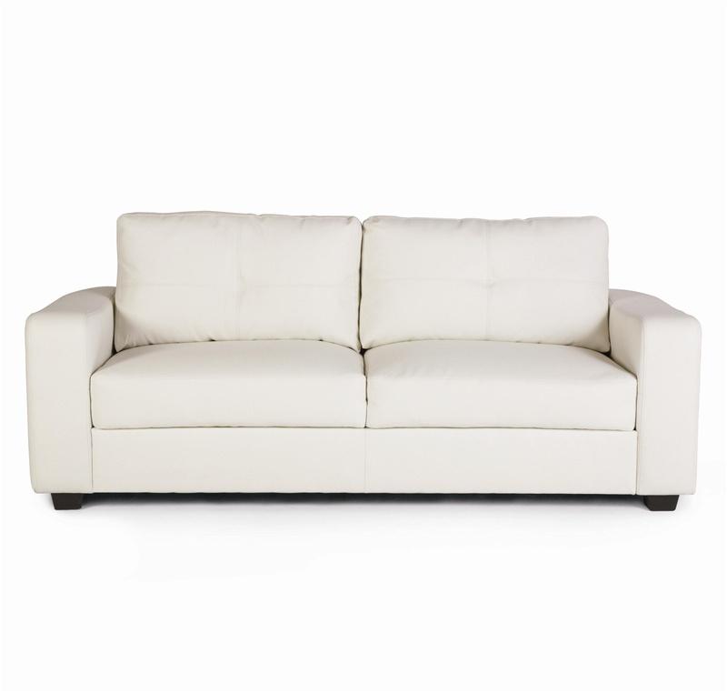Jasmine Vibrant White Leather Loveseat By Coaster 502712