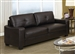Jasmine Brown Leather Sofa by Coaster - 502731