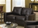 Jasmine Brown Leather Loveseat by Coaster - 502732