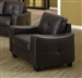 Jasmine Brown Leather Chair by Coaster - 502733