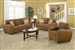 Sibley 2 Piece Sofa Set in Coffee Twill Upholstery by Coaster - 502971-S