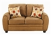 Sibley Loveseat in Coffee Twill Upholstery by Coaster - 502972