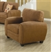Sibley Chair in Coffee Twill Upholstery by Coaster - 502973