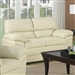 Fenmore Loveseat in Cream Leather Like Fabric by Coaster - 503072