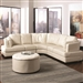 Landen Cream Leather Sectional by Coaster - 503103