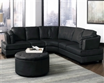 Landen Black Leather Sectional by Coaster - 503106