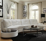 Talia White Leather Sectional by Coaster - 503431