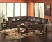 Howard Dark Brown Leather Sectional by Coaster - 503441