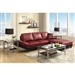Viceroy Black and Red Leather Sectional by Coaster - 503491