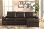 Gus Brown Leatherette Sectional by Coaster - 503870