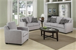 Charlotte 2 Pc Sofa Set in Grey Chenille by Coaster - 504031-S