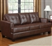 Samuel Sofa in Dark Brown Leather by Coaster - 504071